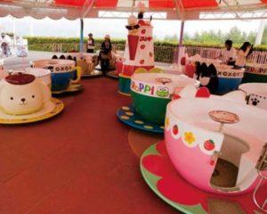 spinning teacup amusement ride