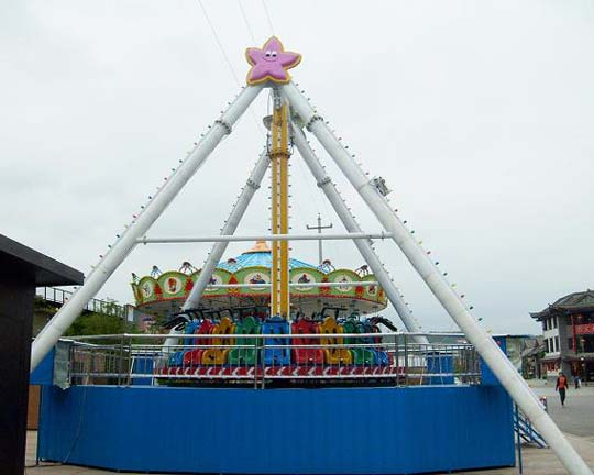 spinning pendulum thrill amusement ride