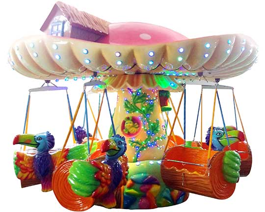 kiddie swings amusement park ride