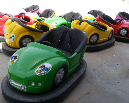 Ceiling grid bumper cars