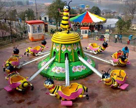 auto-control rotary kiddie bee rides manufacturer