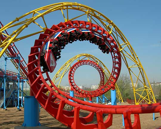 4 rings roller coaster manufacturer