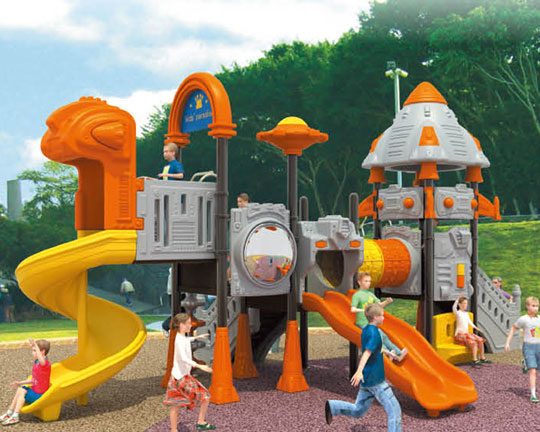 plastic playground slide