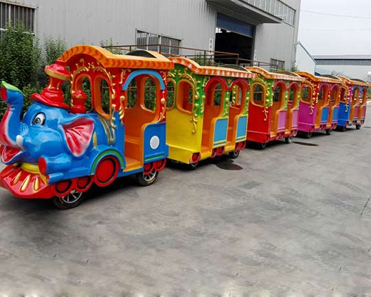 Beston Electric Trackless Train Ride has Been transported to  Chile