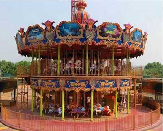 buy double deck carousel rides supplier in CHina