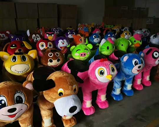 top quality plush electric animal scooters in Beston