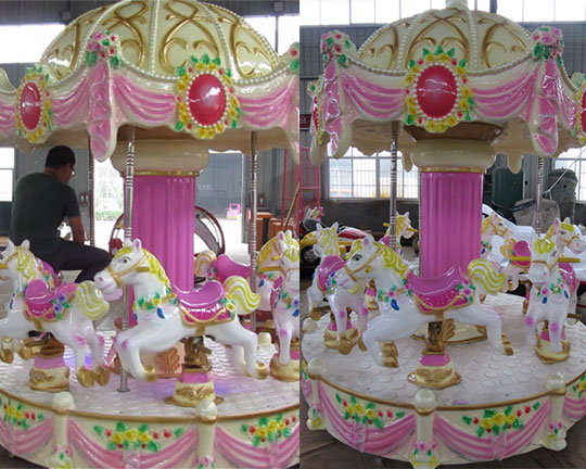 kiddie grand carousel ride manufacturer