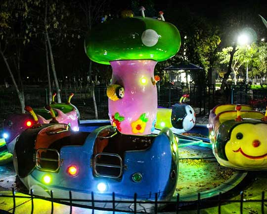 amusement park kiddie rides - ladybug theme park rides