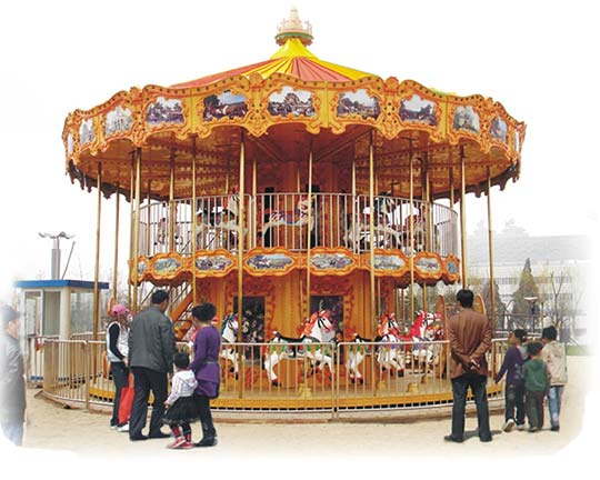 quality double decker merry go round for sale
