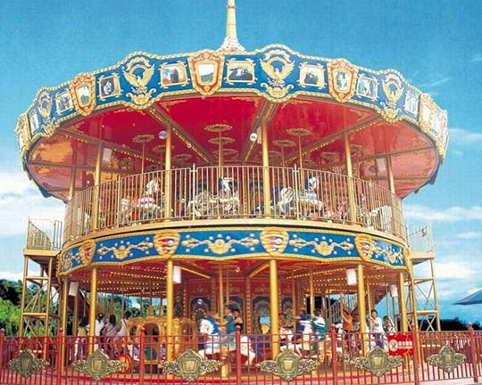 quality double decker carousel ride cheap