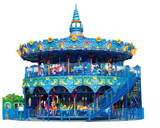 ocean themed double deck carousel for sale