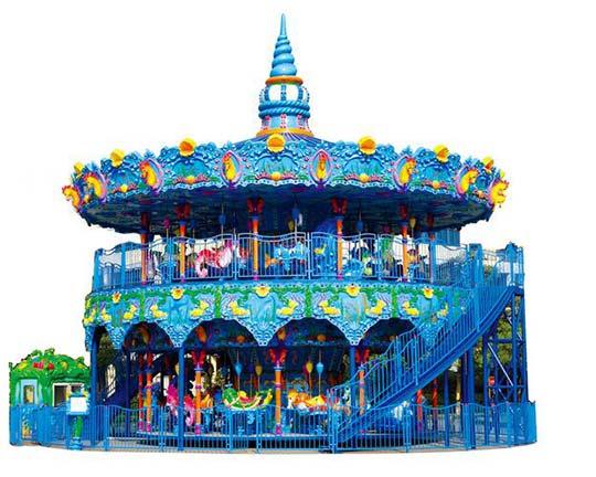 ocean themed double deck carousel for sale