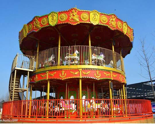 indoor double decker carousel for sale