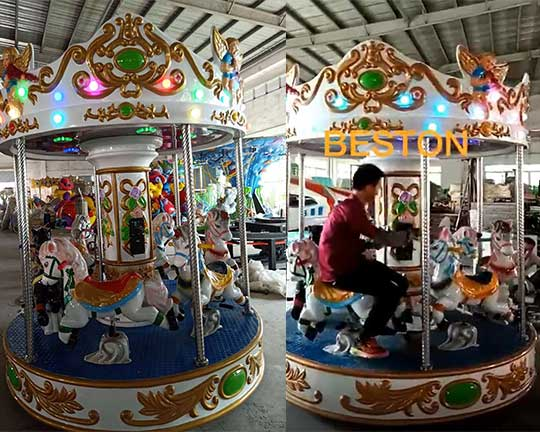 Customized 6-seats Kiddie Carousel for Sale in Mexico
