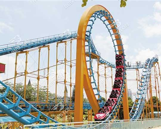 outdoor LARGE theme park roller coaster