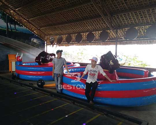 Beston inflatable rodeo bull for sale in Vietnam