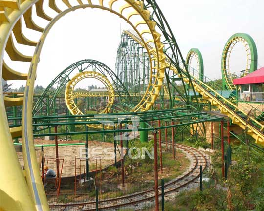 professional 4 loops carnival roller coasters manufacturer