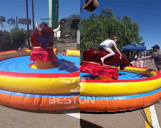 Circular Inflatable Mechanical Bull to Buy in Beston