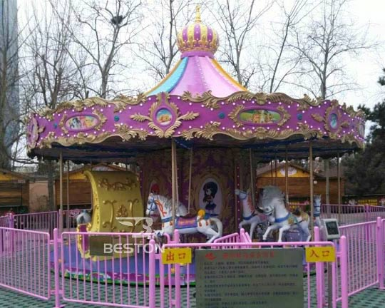 luxury merry go round carnival rides supplier